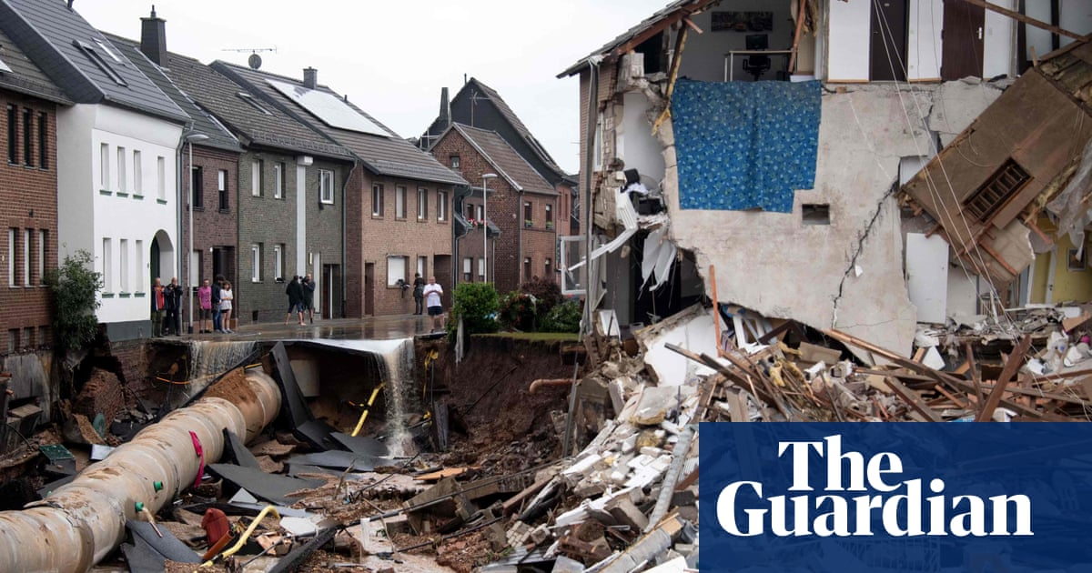 'It's all wrecked': German town stunned by flood damage