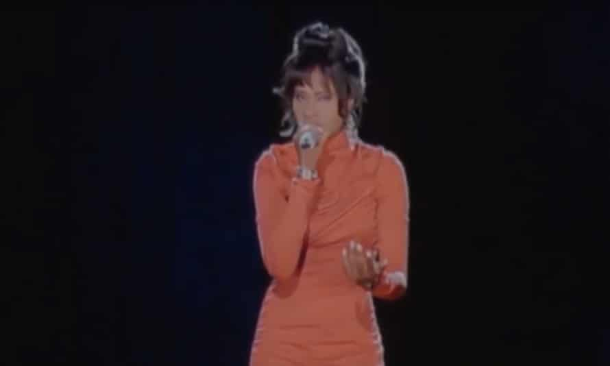 'We know she would have loved it' … a PR image of the Whitney Houston hologram
