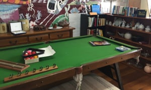 A full size pool table for $300 - complete with all the balls and cues - on sale in a Melbourne op shop.