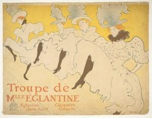 Henri de Toulouse-Lautrec's Troupe de Mlle Églantine.