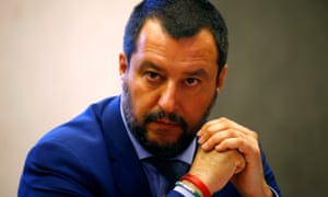 Matteo Salvini looks on at a press conference in Rome this week.