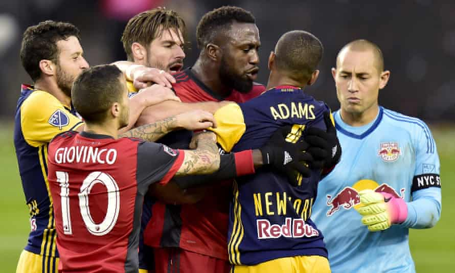 Toronto FC and the New York Red Bulls contested a fiery semi-final