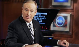 Bill O'Reilly appears on The O'Reilly Factor on 18 January 2007.