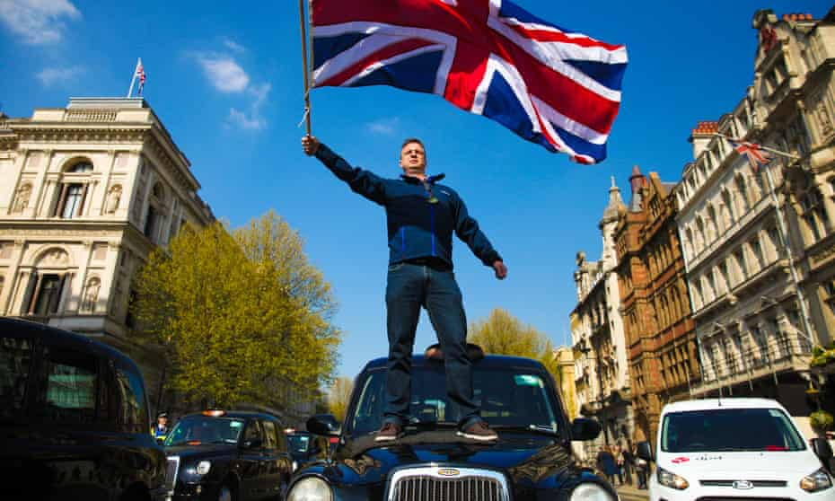 London taxi drivers demonstrate against Uber in London. Taxi companies have vocally protested the Uber invasion in countries around the world.