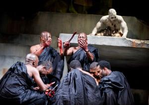Paterson Joseph (Brutus) and Cyril Nri (Cassius) in Julius Caesar, 2012