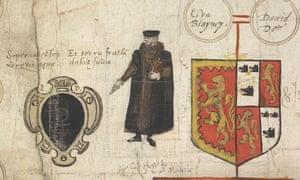 John Dee's self-portrait.