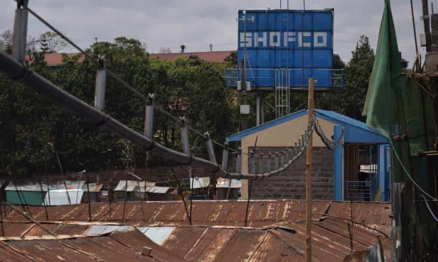 The new aerial water network above Kibera.