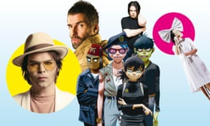 Gaz Coombes; Liam Gallagher; Jack White; Gorillaz and Sia.