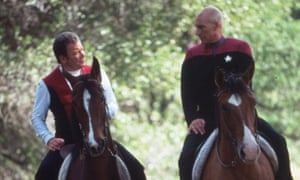 'Oh no, Patrick!' ... William Shatner and Stewart in Star Trek.