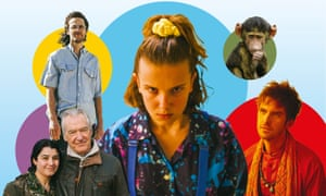 from left: The Woman Who Went to Fight Isis; Waco; Stranger Things; Serengeti; Legion