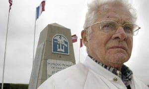 In a photograph taken in 2005, Don Malarkey attends ceremonies to commemorate the D-Day landings on Utah Beach.
