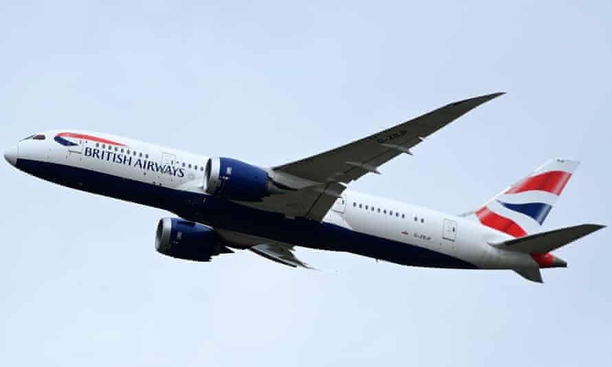 A British Airways aircraft takes off from Heathrow airport