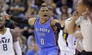 Russell Westbrook: on track to make history.