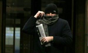 Andrew Macrae leaving court in London