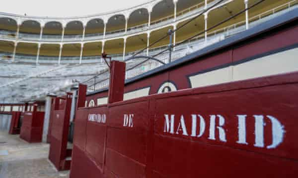 Madrid's Las Ventas bullring is deserted, following the cancellation of the 2020 bullfighting season due to the coronavirus lockdown.