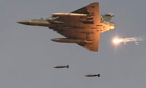 An Indian Mirage-2000 fighter aircraft