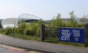 Brighton's Amex Stadium, which is currently being used as a coronavirus testing centre.