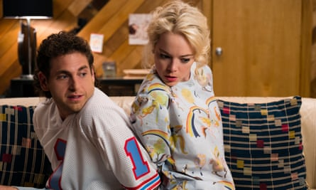 Lemur lovers … Jonah Hill and Emma Stone in Maniac