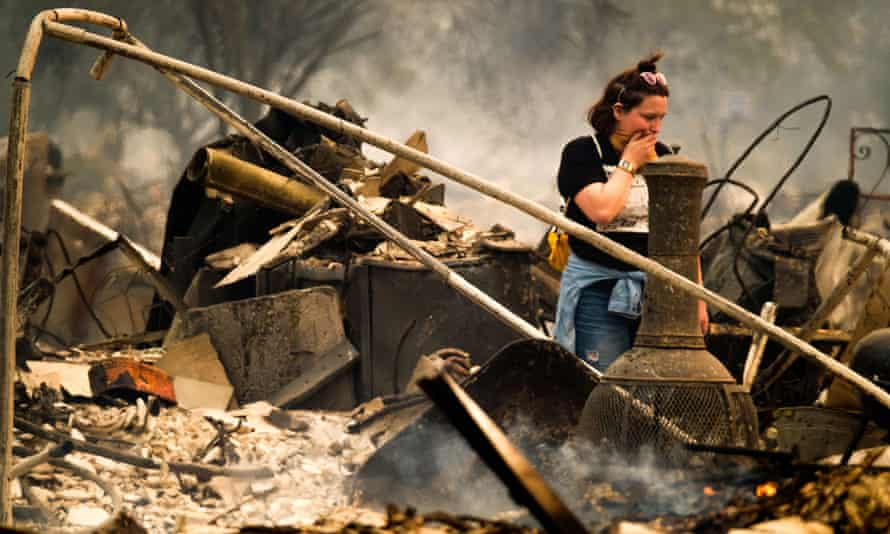 The fast-moving wildfire in northern California has destroyed hundreds of structures.