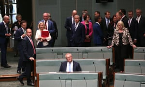 The prime minister Scott Morrison as the encryption laws are debated in the house of representatives, parliament house in Canberra.  6 December 2018.