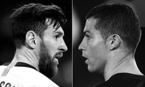 Lionel Messi will be 32 in June and Ronaldo, right, is 34.