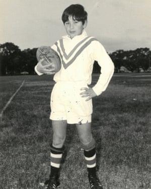 Eddie Jones as a young boy.