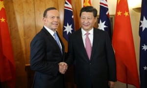 Tony Abbott as PM meeting with Chinese president Xi Jinping in Parliament House in November 2014.