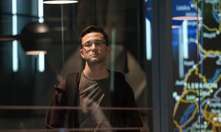 Joseph Gordon-Levitt in the title role of Oliver Stone's Snowden
