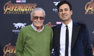 Stan Lee and Keya Morgan at the world premiere of Avengers: Infinity War in Los Angeles, California, on 23 April 2018.