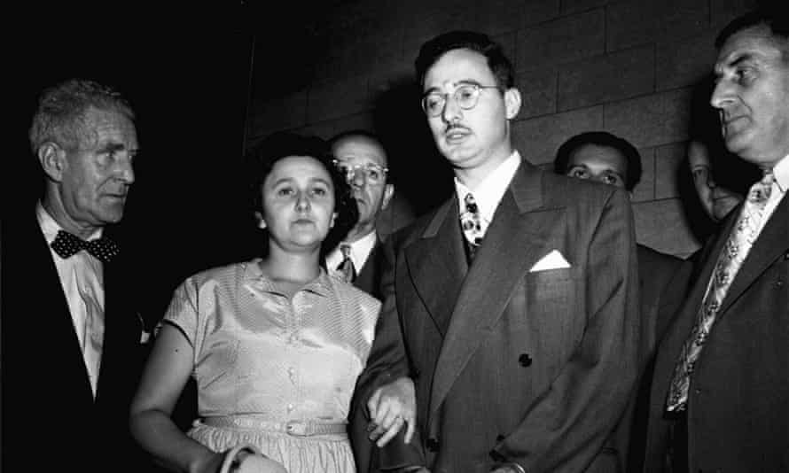 Ethel and Julius Rosenberg are shown during their 1951 trial for espionage in New York.