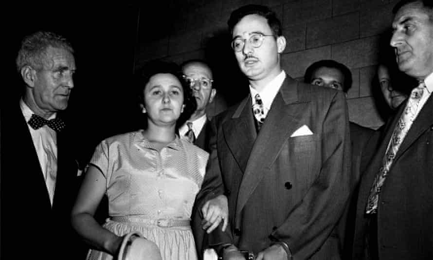Ethel and Julius Rosenberg during their trial for espionage in New York, 1951.