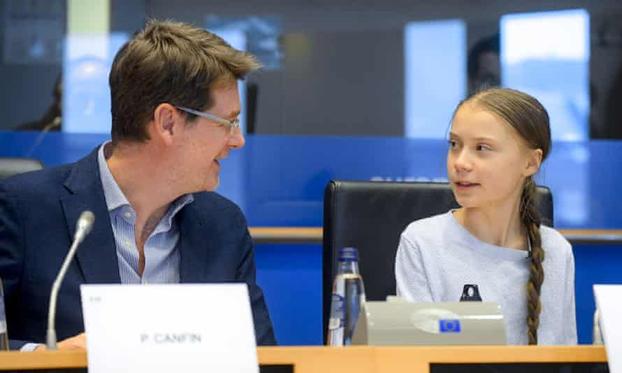 Pascal Canfin and the youth activist Greta Thunberg