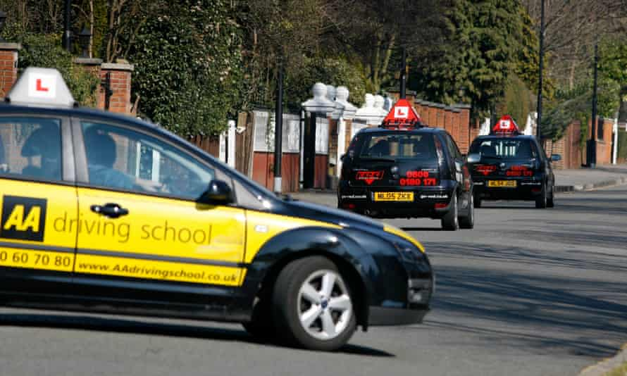 Learner drivers in north London.