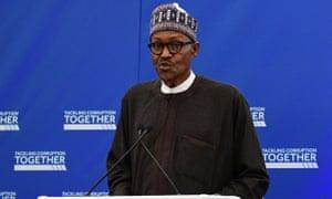 Muhammadu Buhari is attending an anti-corruption summit in London.