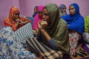 Somali refugees in an Indonesian boarding house