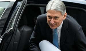 Philip Hammond outside Downing Street in London on Wednesday