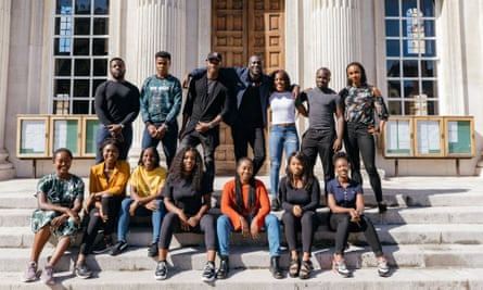 Stepping up: Stormzy announces his scholarship for two students to study at Cambridge.