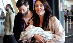 Jacinda Ardern, Clarke Gayford and their daughter Neve