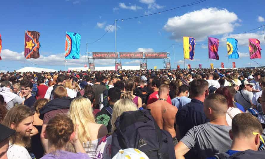 Queueing at the festival
