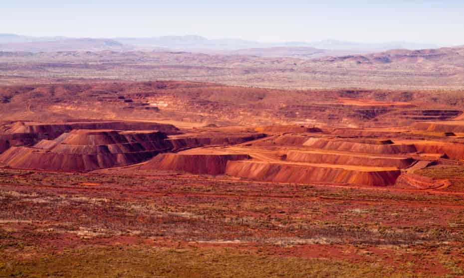 Marandoo open-cut iron ore mine in WA. Aboriginal traditional owners of the Rio Tinto's mine say they were never informed when materials salvaged from an 18,000-year-old rock shelter were accidentally taken to the tip in Darwin in 1995.