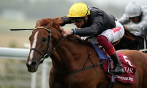 Stradivarius, under Frankie Dettori, on their way to Goodwood Cup victory.