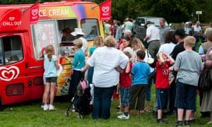 queue at an ice-cream van