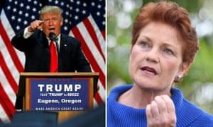 Donald Trump and Australia's Pauline Hanson