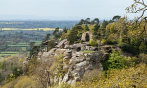 The view towards Grotto Hill at Hawkstone Park Follies, Shropshire