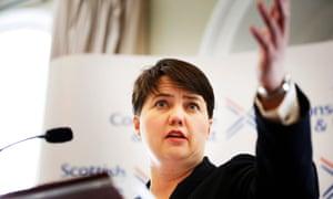 The Scottish Conservative leader, Ruth Davidson