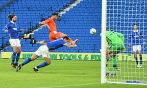 Blackpool's Gary Madine finds the back of the net.