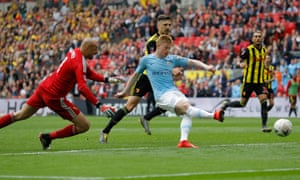 Manchester City's Kevin de Bruyne scored their third goal.