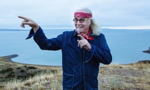 Billy Connolly at Fort Peck Lake near Glasgow, Montana.