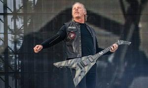 James Hetfield of Metallica performs in Trondheim, Norway in July.