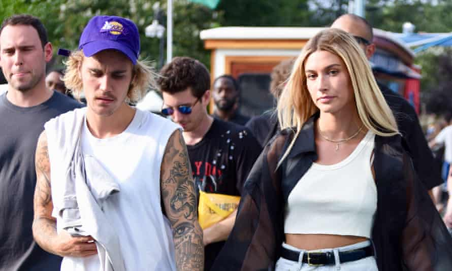 Justin Bieber and his wife, Hailey Baldwin, who he says turned his life around, in 2018.
